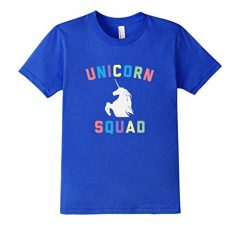 Unicorn Squad Distressed T Shirt Rainbow Humor