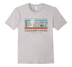 Yellowstone National Park T Shirt #explore Silver
