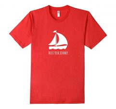 Trust Your Journey Tshirt Red