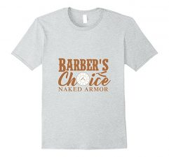 Barber's Choice Naked Armor T-Shirt-Heather Grey