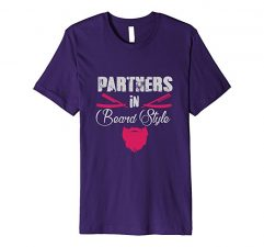 Partners in Beard Style T-Shirt-Purple