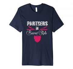 Partners in Beard Style T-Shirt-Navy