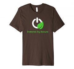 Powered By Nature T-Shirt-Brown
