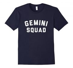 Gemini Squad Star Sign T Shirt-Navy