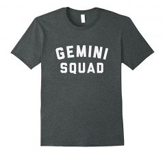 Gemini Squad Star Sign T Shirt-Dark Heather