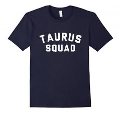 Taurus Squad Star Sign T Shirt-Navy