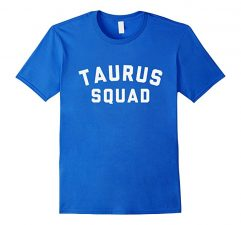 Taurus Squad Star Sign T Shirt-Royal Blue