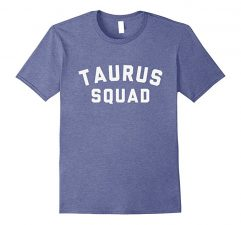 Taurus Squad Star Sign T Shirt-Heather Blue
