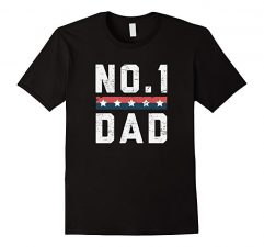 No.1 Dad Father's Day T Shirt-Black