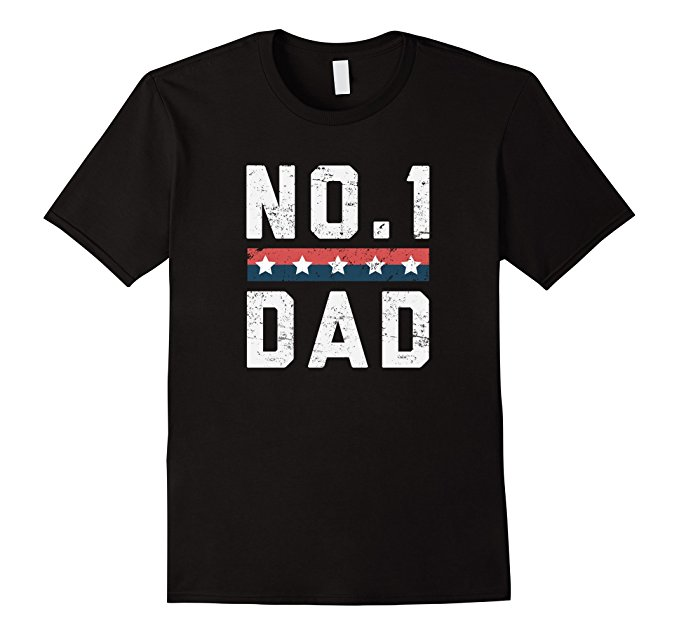 No.1 Dad Father's Day T Shirt 1135