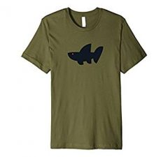 The Wave Tribe Whale Shark Surf T-Shirt-Olive