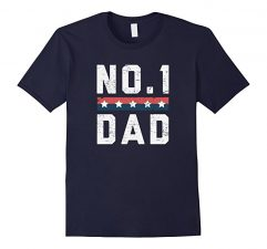 No.1 Dad Father's Day T Shirt-Navy