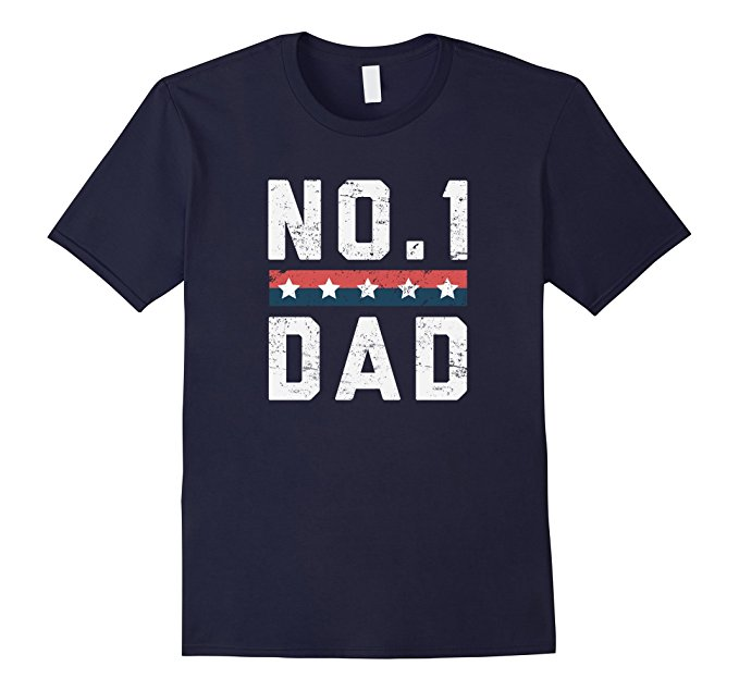No.1 Dad Father's Day T Shirt 1136