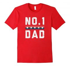 No.1 Dad Father's Day T Shirt-Red
