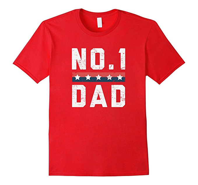 No.1 Dad Father's Day T Shirt 1137