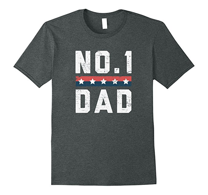 No.1 Dad Father's Day T Shirt 1134