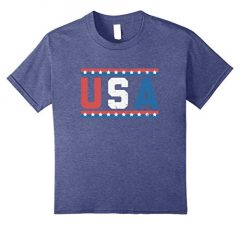 USA July 4th Retro Style T Shirt