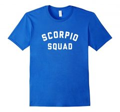 Scorpio Squad Zodiac Sign T Shirt-Royal Blue