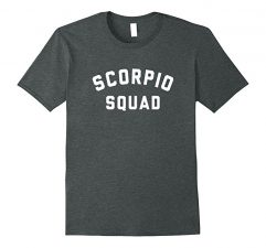 Scorpio Squad Zodiac Sign T Shirt-Dark Heather