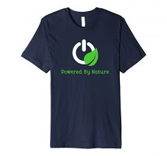 Powered By Nature T-Shirt-Navy
