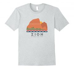 Zion National Park T Shirt-Heather Grey