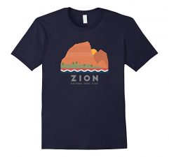 Zion National Park T Shirt-Navy