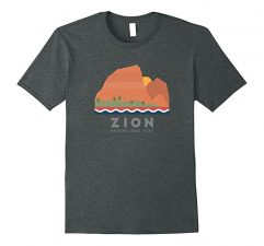 Zion National Park T Shirt-Dark Heather