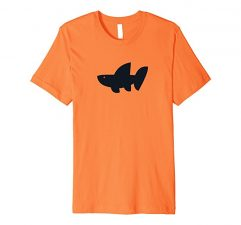 The Wave Tribe Whale Shark Surf T-Shirt-Orange