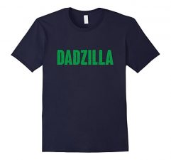 Mens Dadzilla Funny Father's Day Shirt -Navy