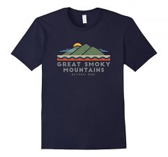 Great Smoky Mountains National Park T Shirt -Navy