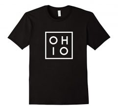 OHIO the Buckeye State T Shirt-Black