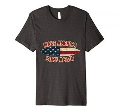 Make America Surf Again T-Shirt-Dark Heather