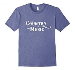 Country Music T Shirt-Heather Blue