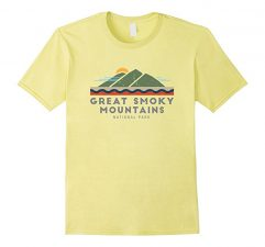 Great Smoky Mountains National Park T Shirt -Lemon