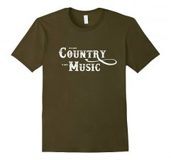 Country Music T Shirt-Olive