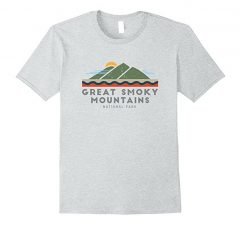 Great Smoky Mountains National Park T Shirt -Heather Grey