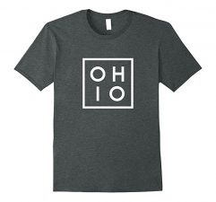 OHIO the Buckeye State T Shirt-Dark Heather