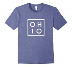 OHIO the Buckeye State T Shirt-Heather Blue