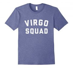 Virgo Squad Star Sign T Shirt-Heather Blue