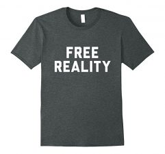 Free Reality Winner T Shirt-Dark Heather