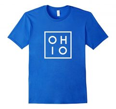 OHIO the Buckeye State T Shirt-Royal Blue