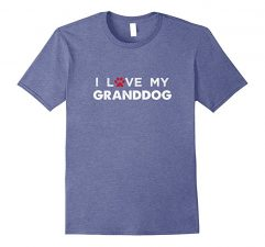 I Love My Granddog Dog Lovers T Shirt-Heather Blue