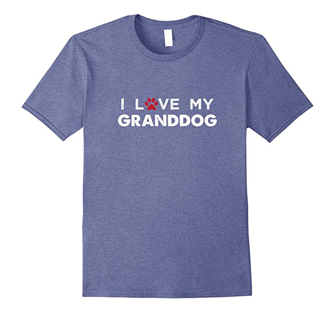 I Love My Granddog Dog Lovers T Shirt 955
