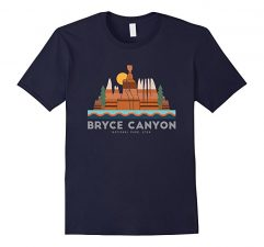 Bryce Canyon National Park T Shirt-Navy