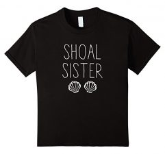 Shoal Sister Mermaid T Shirt-Black