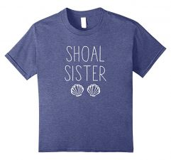 Shoal Sister Mermaid T Shirt-Heather Blue
