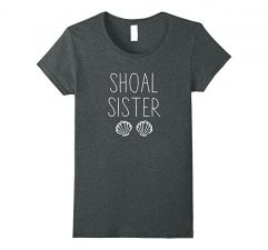 Shoal Sister Mermaid T Shirt-Dark Heather